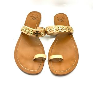 Authentic TORY BURCH Val Flat Sandals